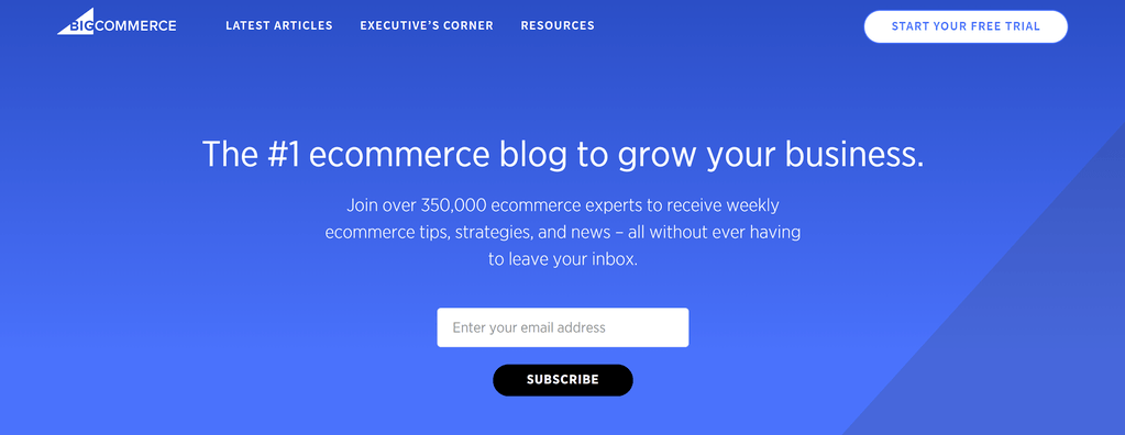 BigCommerce is a great example of how to use an ecommerce blog to increase sales